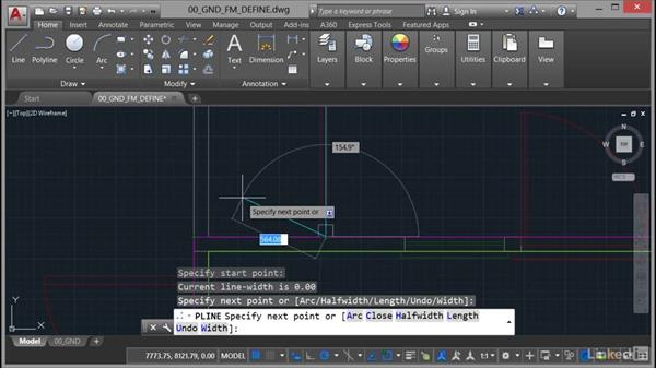 Using object snaps and centerlines: AutoCAD Facilities Management: Areas