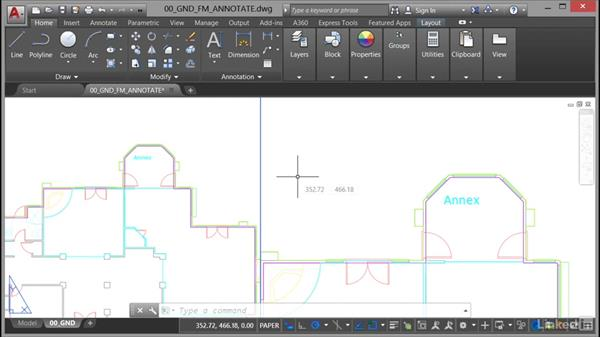 Using text fields: AutoCAD Facilities Management: Areas