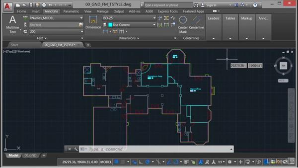 Setting up the area table style: AutoCAD Facilities Management: Areas