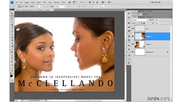 Blending multiple ACR portraits: Photoshop CS4 One-on-One: Mastery