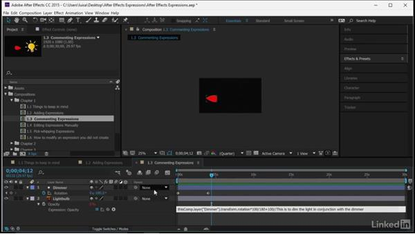 Commenting expressions: After Effects Guru: Expressions