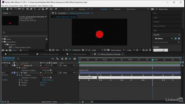 Editing expressions manually: After Effects Guru: Expressions
