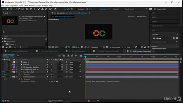 Pick-whipping expressions: After Effects Guru: Expressions
