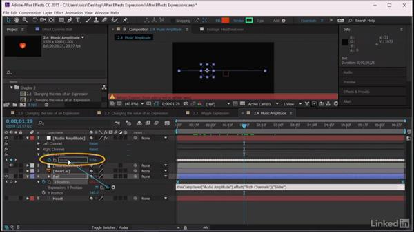 Music amplitude: After Effects Guru: Expressions
