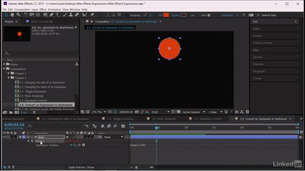 Converting an expression to keyframes: After Effects Guru: Expressions