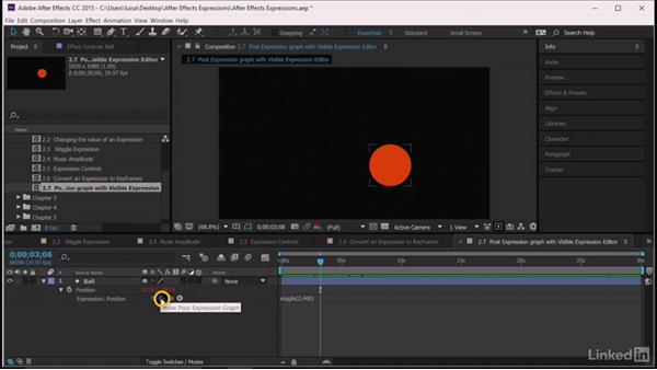 Post-Expression Graph with visible expression editor: After Effects Guru: Expressions