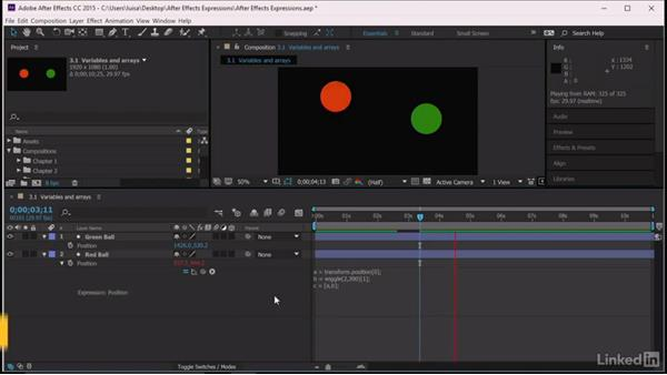 Variables and arrays: After Effects Guru: Expressions