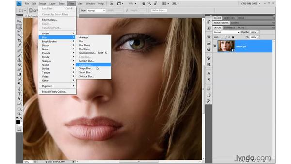 Applying a Smart Filter: Photoshop CS4 One-on-One: Mastery