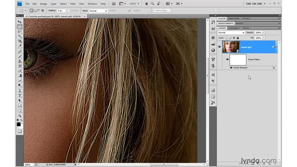 Adjusting filter and blend settings: Photoshop CS4 One-on-One: Mastery