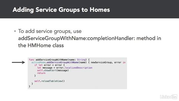 Working with service groups: Developing for HomeKit & iOS