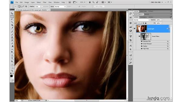 Dragging and dropping Smart Filters: Photoshop CS4 One-on-One: Mastery