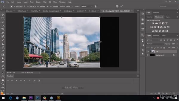 Extending a background: After Effects Guru: Advanced Photoshop Integration