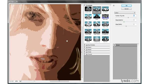 Working with the Filter Gallery: Photoshop CS4 One-on-One: Mastery