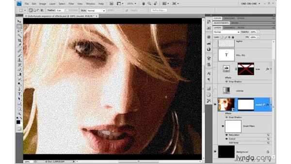 Swapping filters from the Filter Gallery: Photoshop CS4 One-on-One: Mastery
