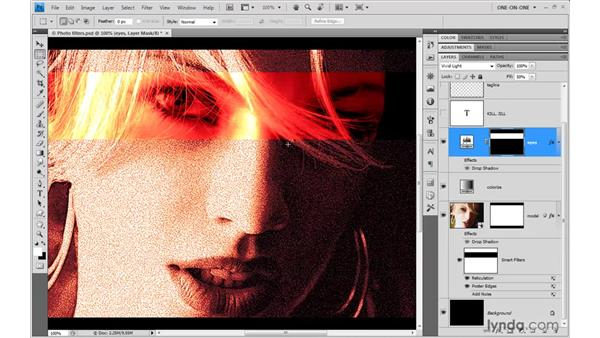 Mixing all varieties of parametric effects: Photoshop CS4 One-on-One: Mastery