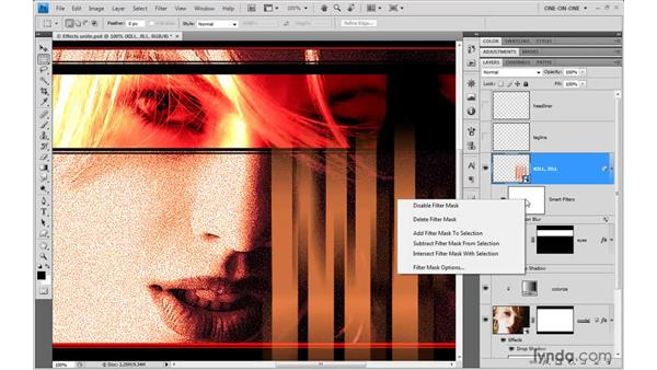 Applying a Smart Filter to live type: Photoshop CS4 One-on-One: Mastery