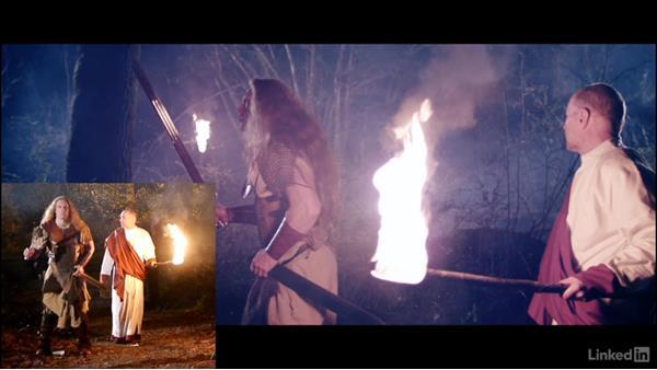Ensuring safety around fire: Creating a Short Film: 06 Working on Set