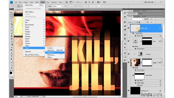 Choking letters with Maximum: Photoshop CS4 One-on-One: Mastery