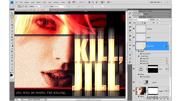 Enhancing a filter with a layer effect: Photoshop CS4 One-on-One: Mastery