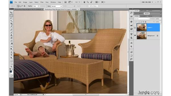 Merging two shots into one: Photoshop CS4 One-on-One: Mastery