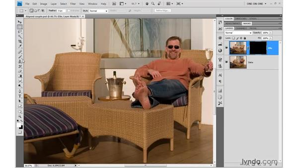 Masking images into a common scene: Photoshop CS4 One-on-One: Mastery