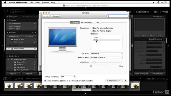Connecting the camera to a monitor with an HDMI cable: Tethered Shooting Fundamentals