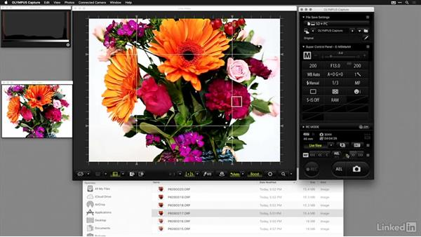 Tethering with Olympus Capture: Tethered Shooting Fundamentals