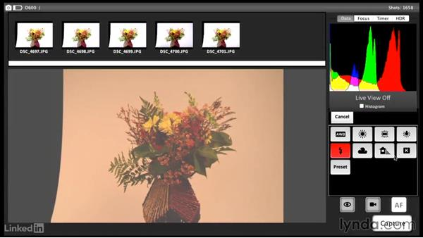 Adjusting the camera settings with the CamRanger on a laptop: Tethered Shooting Fundamentals