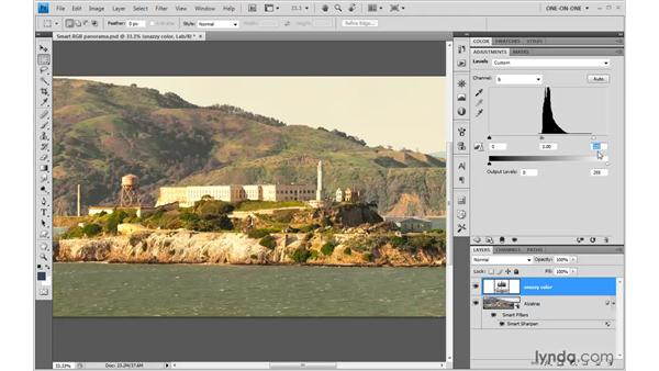 An altogether nondestructive Lab correction: Photoshop CS4 One-on-One: Mastery