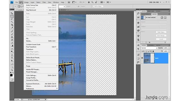 Applying Content-Aware Scale: Photoshop CS4 One-on-One: Mastery