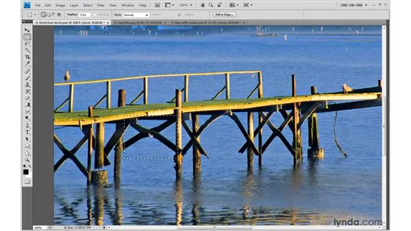 What works and what doesn't with Content-Aware Scale: Photoshop CS4 One-on-One: Mastery