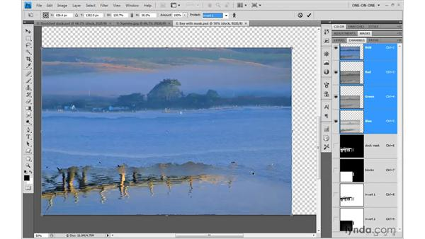 Protecting areas with masks: Photoshop CS4 One-on-One: Mastery