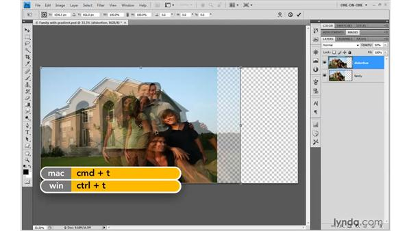 Creating a lens distortion effect: Photoshop CS4 One-on-One: Mastery
