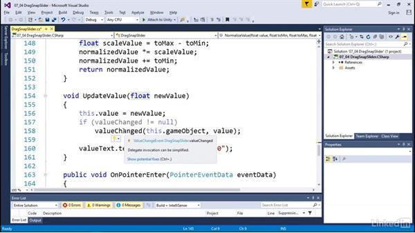 Drag snap sliders: Programmatic UI with Unity