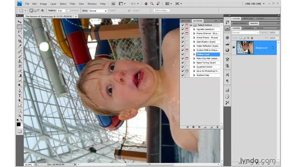 Creating an action: Photoshop CS4 One-on-One: Mastery