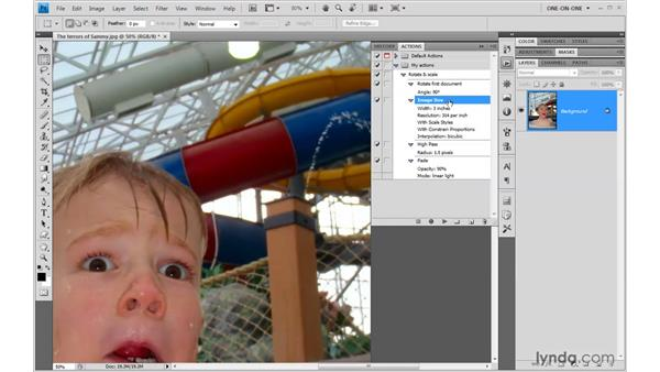 Reviewing and editing an action: Photoshop CS4 One-on-One: Mastery