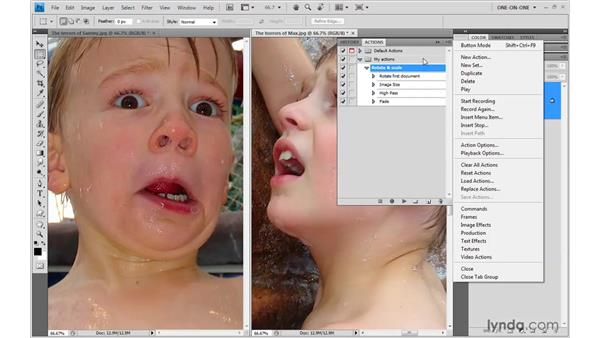 Saving and loading actions: Photoshop CS4 One-on-One: Mastery