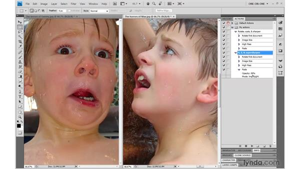 Copying and modifying an action: Photoshop CS4 One-on-One: Mastery
