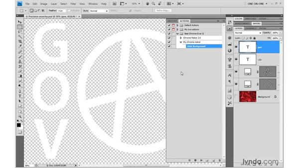 Recording a fail-safe action: Photoshop CS4 One-on-One: Mastery