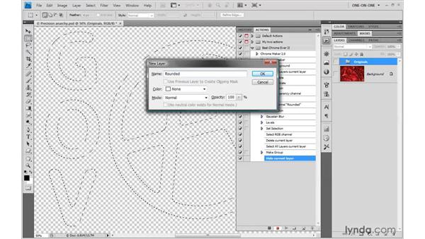 Cleaning up layers: Photoshop CS4 One-on-One: Mastery
