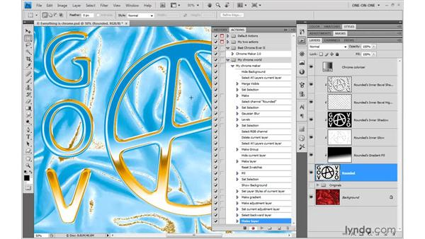Rendering effects to layers: Photoshop CS4 One-on-One: Mastery