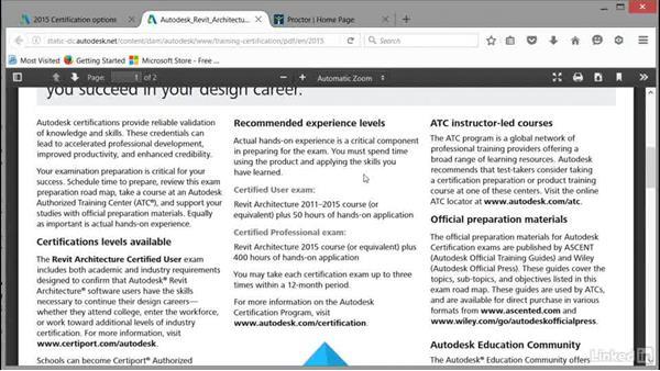 Autodesk Certified User: Cert Prep: Revit Architecture Certified Professional