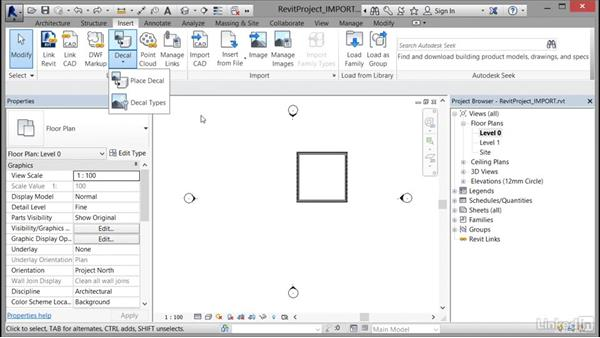 Importing DWG and image files: Cert Prep: Revit Architecture Certified Professional