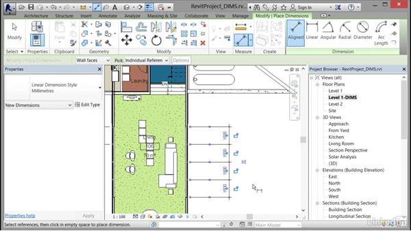 Using dimension strings: Cert Prep: Revit Architecture Certified Professional