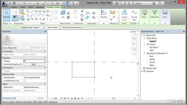 Defining floors for a mass: Cert Prep: Revit Architecture Certified Professional