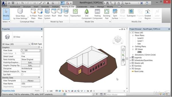 Generating a toposurface: Cert Prep: Revit Architecture Certified Professional