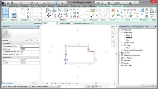 Attaching walls to a roof or ceiling: Cert Prep: Revit Architecture Certified Professional