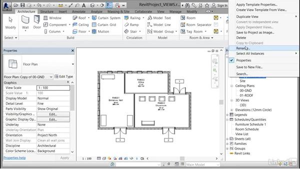 Creating a duplicate view for a plan, section, elevation, and drafting view: Cert Prep: Revit Architecture Certified Professional