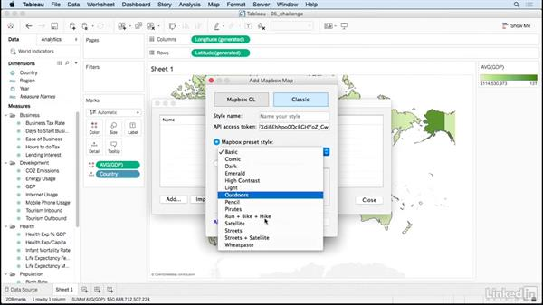 Mapping: Solution: Tableau 10 for Data Scientists