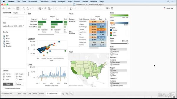 Dashboard layout tips: Tableau 10 for Data Scientists